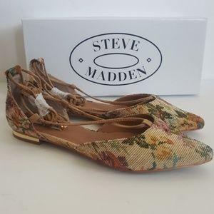 New Steve Madden Walkie Floral Flats